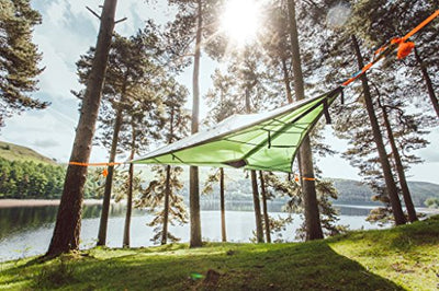 Tentsile Stealth 3-Person Modular Suspended Camping Tree House Tent, Orange Rainfly