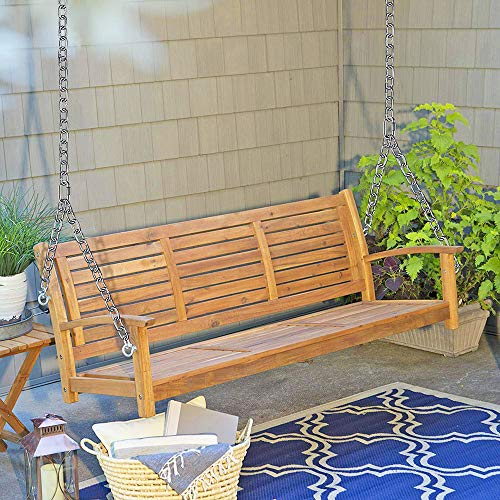 Besthouse Set of 2 Heavy Duty Porch Swing Hanging Chain Kit