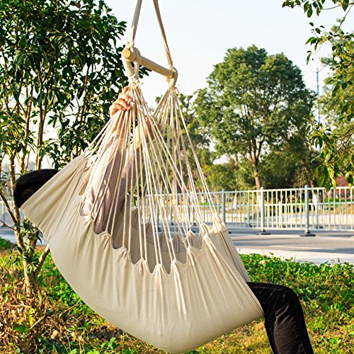 Exceptionnel CCTRO Hanging Rope Hammock Chair Swing Seat, Large Brazilian Hammock Net  Chair Porch Chair For