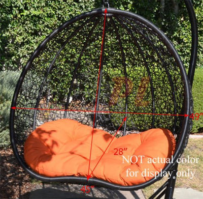 Wicker Rattan Hanging Egg Chair for 2 Lovers