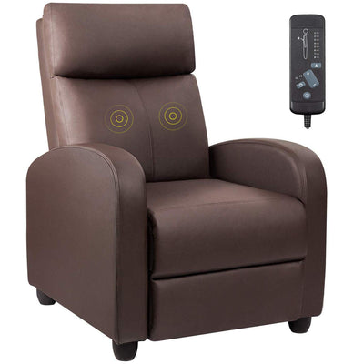 Devoko PU Leather Recliner Chair : Brown