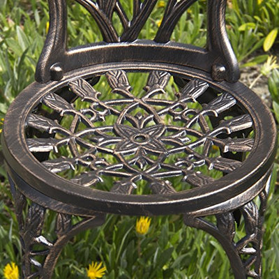 3-Piece Cast Aluminum Patio Bistro Set