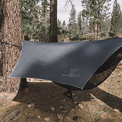 Wise Owl Outfitters Hammock Rain Fly Tent Tarp – The WiseFly Premium 11 x 9 ft Large Hex Waterproof Ripstop Nylon Camping Shelter Canopy Rainfly – Lightweight Camp Gear Accessories - Grey