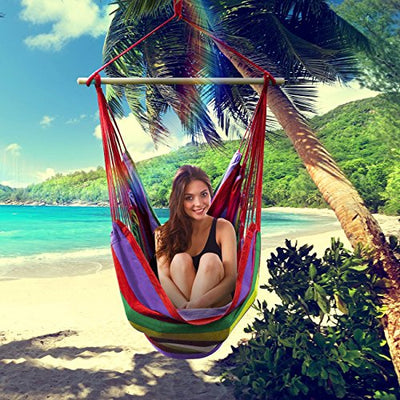 Sorbus Brazilian Hammock Chair Swing Seat: Multi-Color
