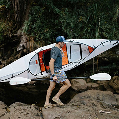 Oru Kayak Beach LT Folding Portable Lightweight Kayak - For Day Trips, Picnics, and Casual Fun with Family and Friends