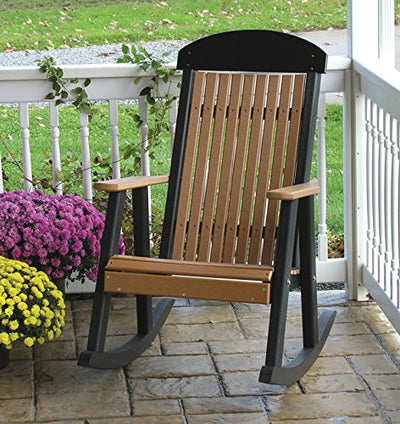 LuxCraft Classic Traditional Recycled Plastic Rocking Chair