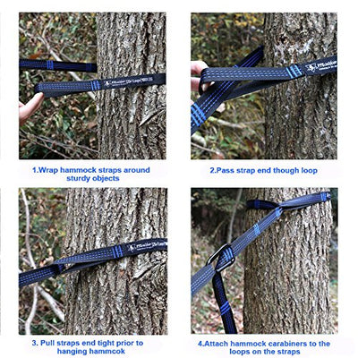 pys XL Hammock Tree Straps, 40 Loops&20ft Long Combined