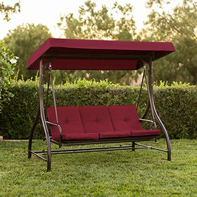 3-Seater Converting Outdoor Patio Canopy Swing Hammock