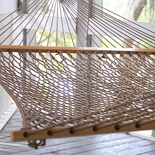 Duracord Rope Hammock: Antique Brown