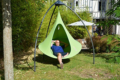 Double Cacoon Hanging Tent in Leaf Green on Amazon