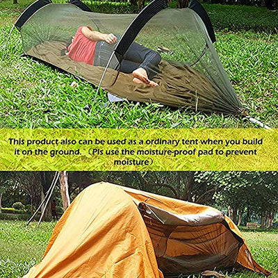 3 in 1 Lay Flat Hammock with Mosquito Net and Rain Fly