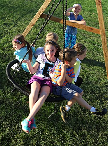 Spider Web Outdoor Swing N' Spin: Black