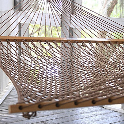 Original Pawleys Island Duracord Rope Hammock: Antique Brown