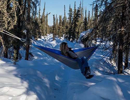 Easy Traveller Hammock Blue: Breathable Parachute Nylon
