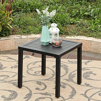 Indoor Outdoor Small Metal Square Side/End Table