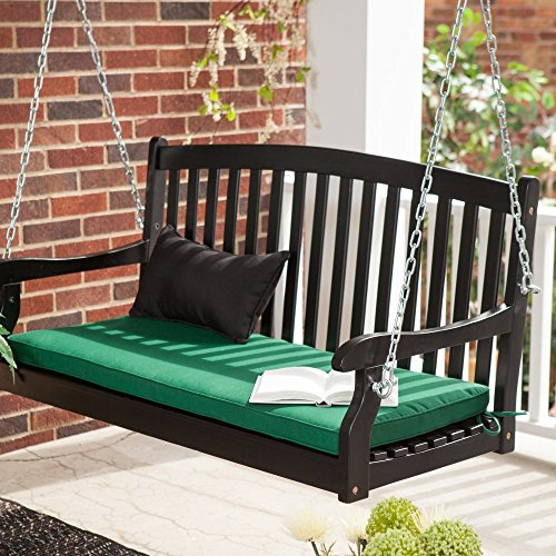 Pleasant Bay Curved Back Painted Porch Swinging Bed: Black