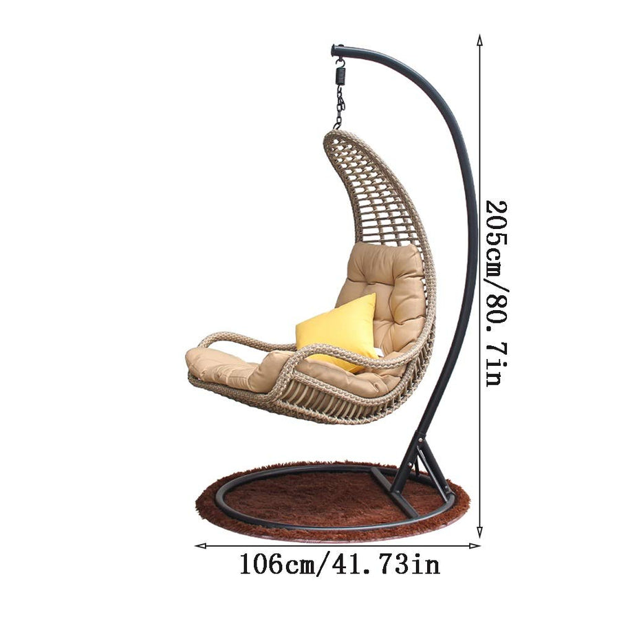 Rattan Hanging Basket Chair for Outdoor