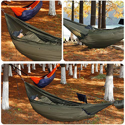 onewind Underquilt Double Hammock Quilt Night Warm Insulation 3 Season Light Weight Sleeping Camping U-Bag(40-60 Degrees)