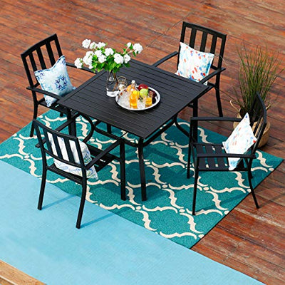 2 Piece Patio Wrought Iron Dining Seating Chair