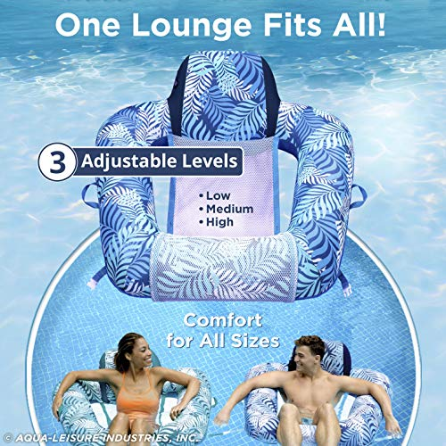 Aqua Zero Gravity Pool Chair Lounge, Inflatable Pool Chair