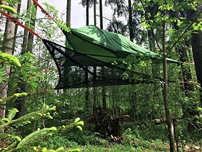 Tentsile Trillium Tensioned Triple Hammock- 3 Person- Black Mesh