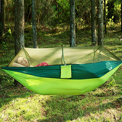 MIFXIN Camping Hammock with Mosquito Net & Rainfly Tent Tarp & Tree Straps
