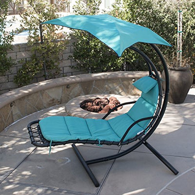 Hanging Chaise Floating Swing Chaise Lounge Chair Hammock Lounger