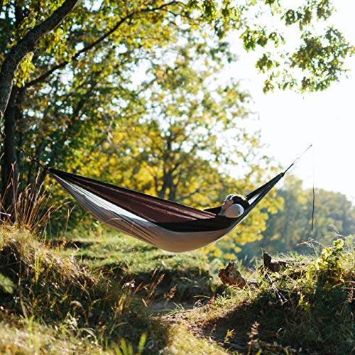 Foxelli Camping Hammock with Tree Ropes and Carabiners