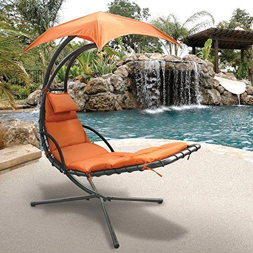 Hanging Chaise Chair Canopy Stand Porch Swing Hammock