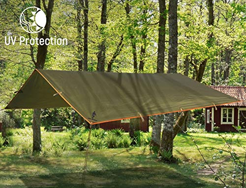 FREE SOLDIER Waterproof Portable Tarp: Orange