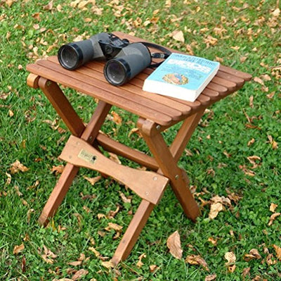 Byer of Maine Pangean Folding Table, Hardwood Keruing Wood, Hand-Dipped Oil Finish, Easy to Fold and Carry, Perfect for Camping and Tailgating, Matches All Furniture in the Pangean Line