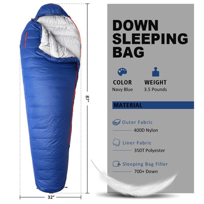 WINNER OUTFITTERS Down Sleeping Bag with Compression Sack