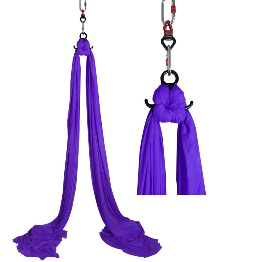 DASKING Premium Aerial Yoga Hmamock Silks Kit: Dark Purple