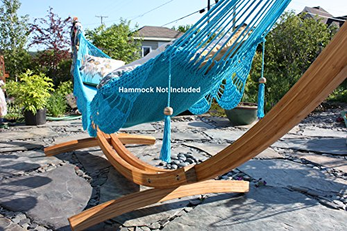 Hammock Universe Bamboo Arc Hammock Stand for All Hammocks - 14.5 Foot Heavy Duty Wooden Stand Strong, Solid, Eco-Friendly Multi-Ply Bamboo Wood Frame with 500lbs Capacity & Quick Assembly
