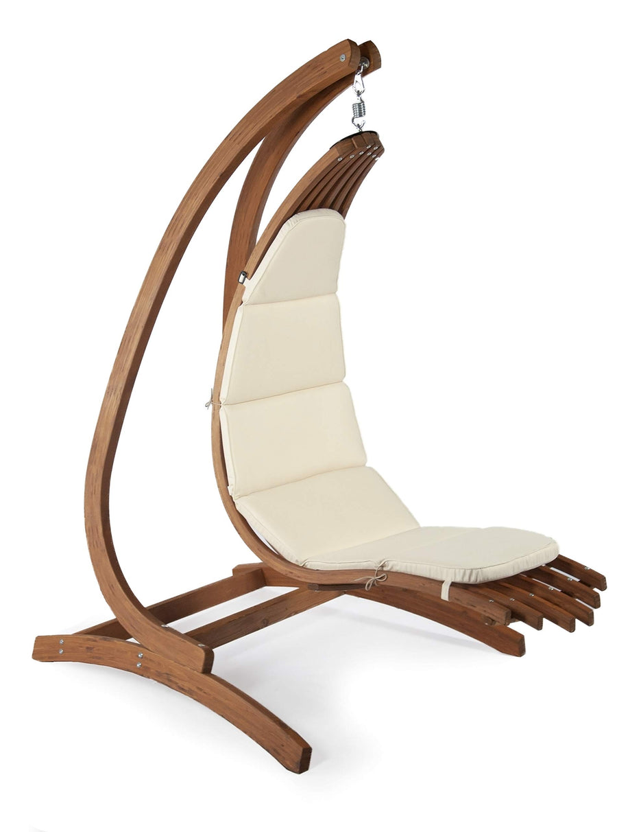 Wave Lounger Chair with Optimist Stand : Classic Ivory