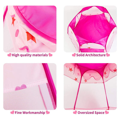 KIDAMI Princess Pop Up Tent for Toddlers and Girls