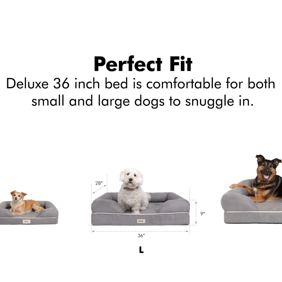 Friends Forever Memory-Foam Orthopedic Dog Bed