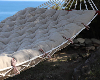 Handmade Boho Style Large Hammock Cushion with Cotton Rope Hammock