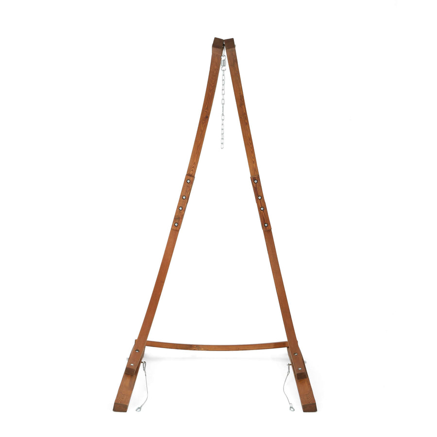Teak Finish Larch Wood Hammock Chair Stand