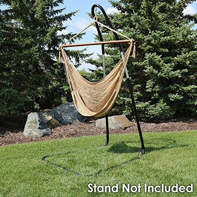 Hanging Rope Hammock Chair | Sunnydaze