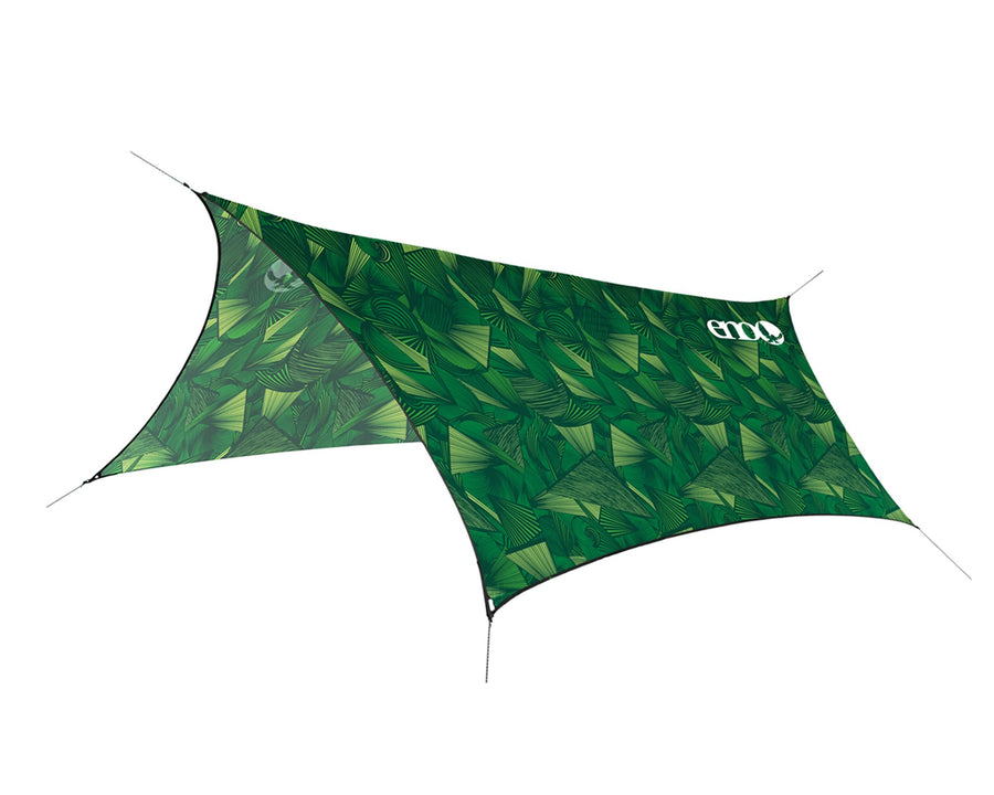 ENO ProFly Ultralight Hammock Rain Fly Tarp: Green Tribal