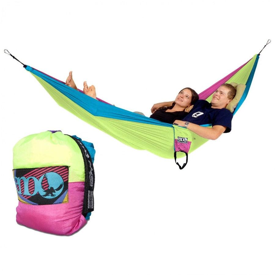 ENO DoubleNest Hammock: Navy/Lime/Charcoal