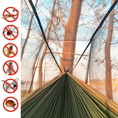 Single & Double Camping Hammock with Mosquito/Bug Net