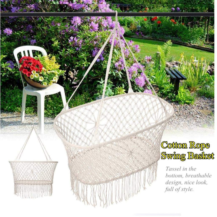 Children Macrame Rocking Chair Bed Cradle