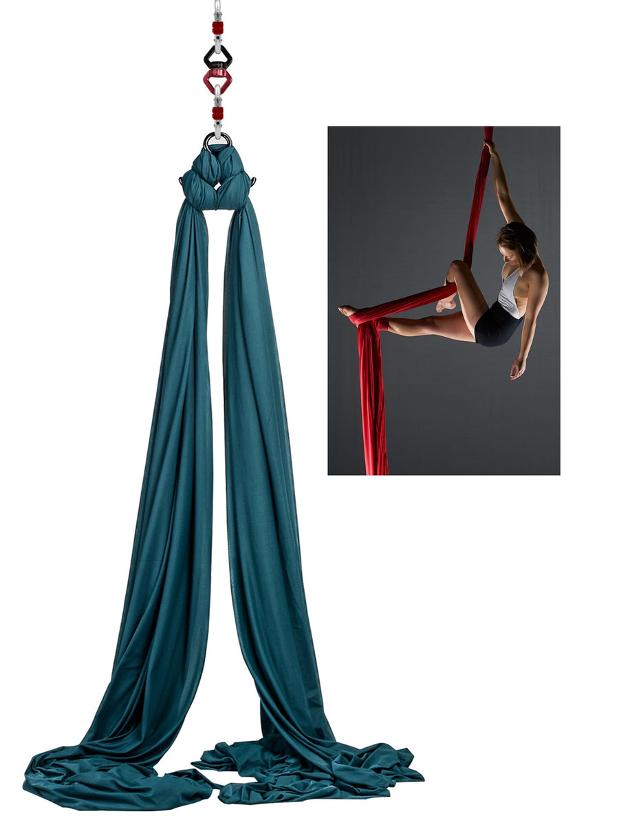 Aerial Yoga Hammock Silks Standard Kit: Dark Green
