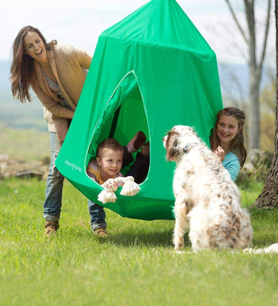 HearthSong Go! HugglePod Hangout Portable Hanging Tree Tent: Spring Green