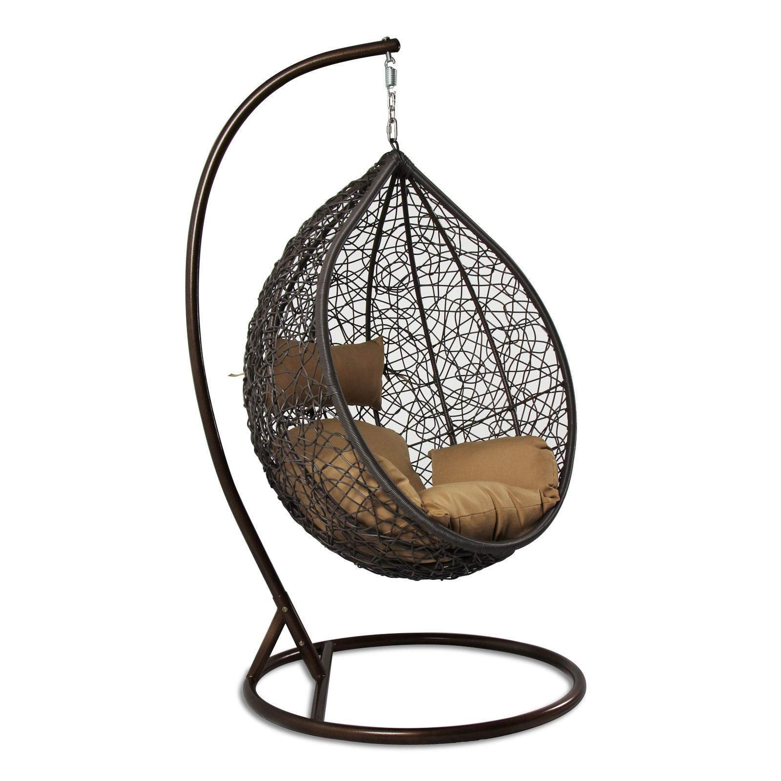 Island Gale Hanging Basket Chair Outdoor Front Porch Furniture
