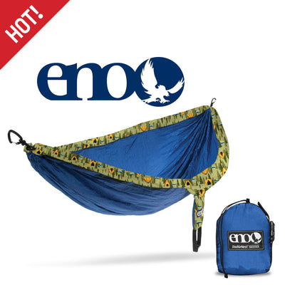 ENO DoubleNest Print Lightweight Camping Hammock [23 Colors}