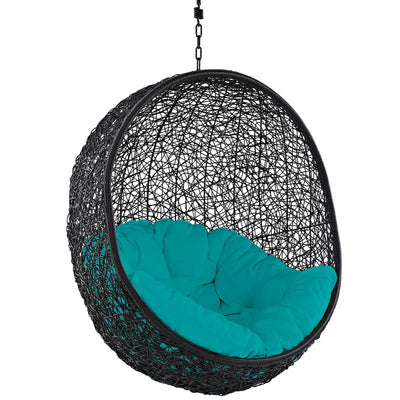 Modway Encase Wicker Rattan Outdoor Patio Porch Lounge Egg: Turquoise
