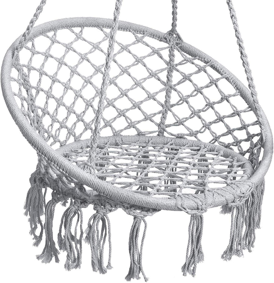 Macrame Hammock Chair Cotton Rope Swing